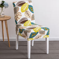 Restaurant Siamese Seat Cover Simple Home Elastic Hotel Chair Set Universal Dining Table Stool Cover European Style