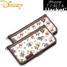 日本Disney米妮米奇iphone7翻盖卡通手机 壳苹果6保护套防摔皮套潮