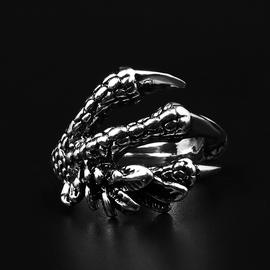 日韩男士戒指合金食指防身暗器至戒鹰龙爪开口可调节霸气指环图片