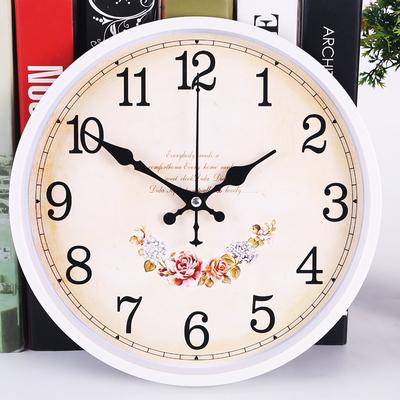 欧式钟表客厅静音双十二