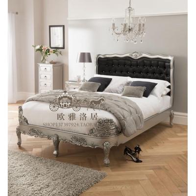 美式鄉村實木雕花雙人床法式歐式時尚雙人床新古典復古做舊公主床在哪買