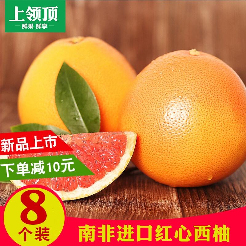 南非葡萄柚230-300g/个 8个  新鲜水果 红心西柚 柚子