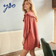 YSO pajamas women spring and summer wear dresses, dresses, nightdresses, leisure and comfortable household clothes, women's nightdresses, household clothes and nightdresses