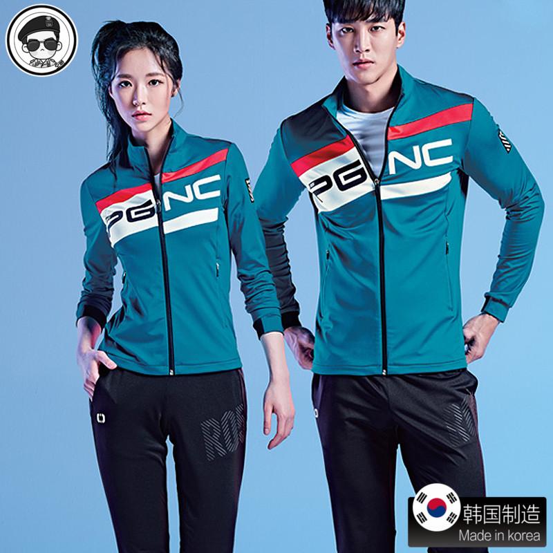 韩国代购佩吉酷2019羽毛球服女外套套装 女款男服装 正品春秋长袖
