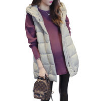 Maternity clothes spring clothes cotton autumn and winter fashion models set long loose large size coat pregnant women cotton vest