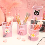 Girl pink heart cute pen holder Korean students small fresh office stationery small fairy exclusive pen holder storage tube