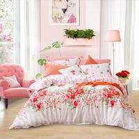 富安娜家纺圣之花纯棉四件套全棉被套床单双人1.8米单人床上用品t