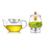 Furong floating cup teapot can be disassembled and filtered tea cup family simple all-glass tea set tea maker