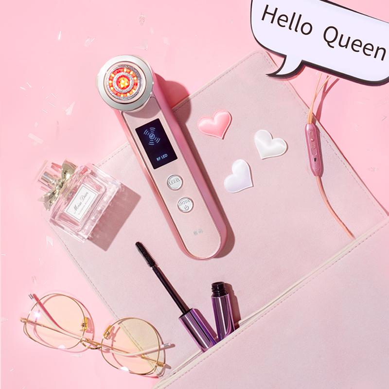 雅萌日本YAMAN脸面护眼部射频导入电子红光美容仪机器童颜非宙斯