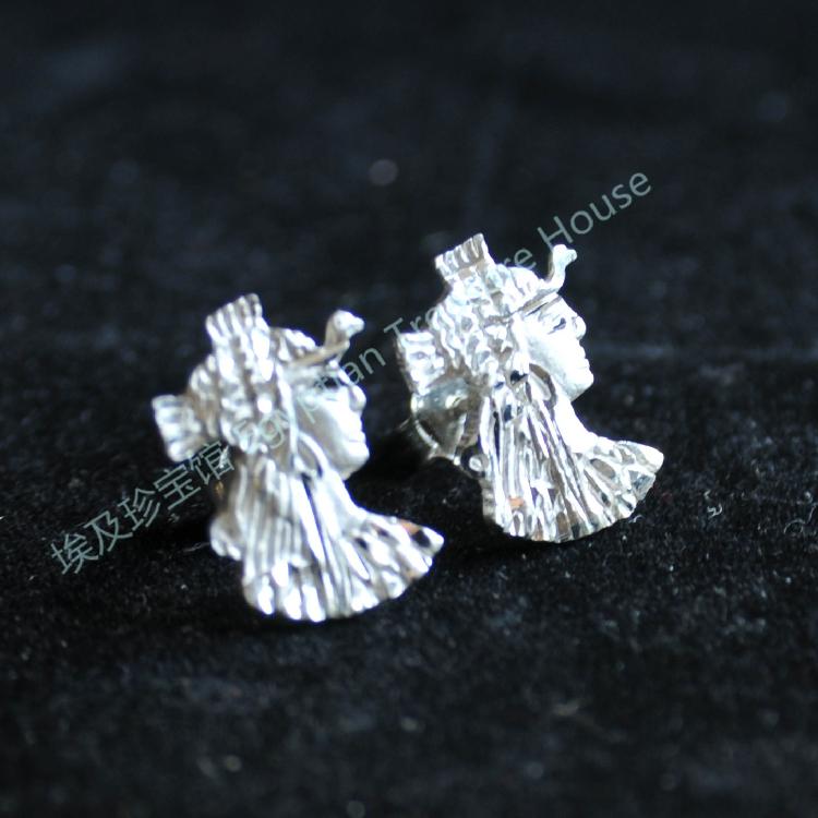 无货 已售孤品 埃及艳后 银耳钉 Cleopatra银耳钉 埃及银饰