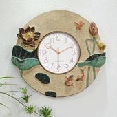 装饰挂件创意现代简约中式挂钟静音钟表客厅卧室餐厅时钟墙面壁钟