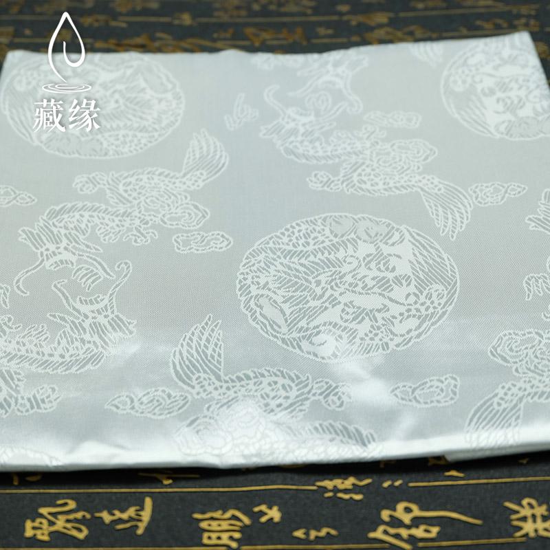哈达批量发特价藏族结婚喜庆佛教用品白色大号龙凤提花230cm*43cm