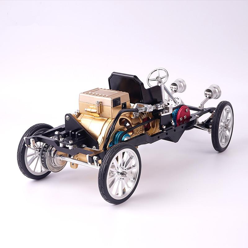 单缸发动机汽车DIY金属拼装模型高难度机械组装老爷车装饰摆件