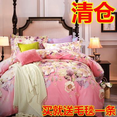 情人罗莱家纺纯棉磨毛四件套全棉加厚婚庆1.8m2.0m米床上用品双人
