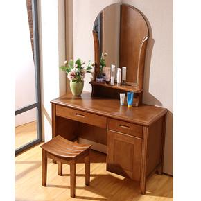 中式实木化妆台简约梳妆桌橡木化妆台卧室家具梳妆台包邮包安装