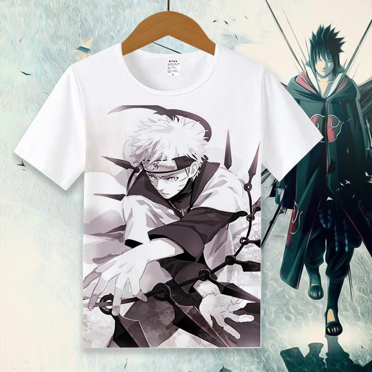火影忍者动漫周边T恤 佐助 鸣人 鼬 二次元短袖衣服夏季男女服装