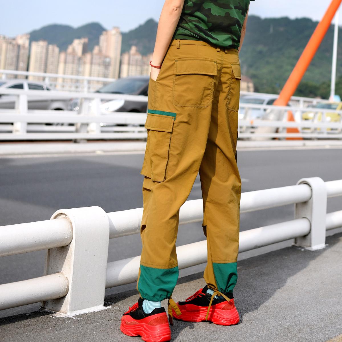 北京森林户外运动休闲潮牌工装裤速干九分裤宽松加大码男女式