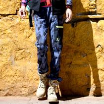 秋冬款户外男式休闲裤弹力保暖运动裤软壳裤18地球科学家kroceus