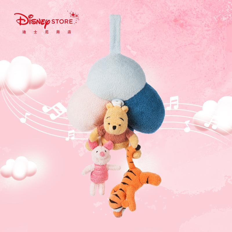 迪士尼商店 小熊维尼婴儿床头发声哄睡拉铃挂式音乐公仔玩偶
