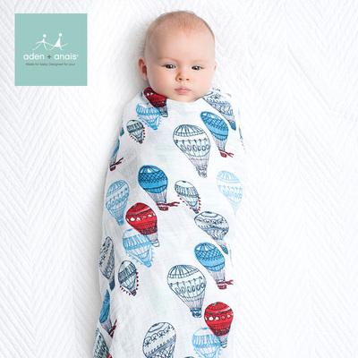 美国品牌aden+anais多功能襁褓包巾婴儿抱毯新生儿包巾纱布四只装