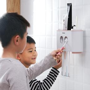 牙刷架吸壁式刷牙杯置物架壁挂吸盘式免打孔卫生间漱口杯牙具套装