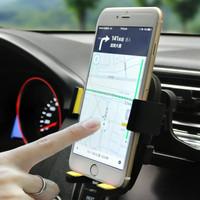 创意车载手机支架华为苹果万能通用汽车出风口卡扣式车用导航车架