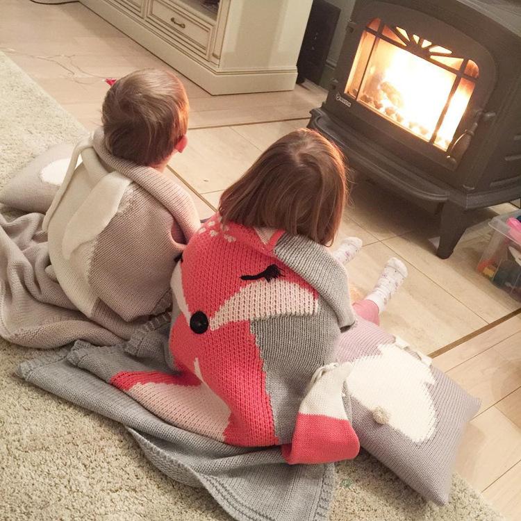 立体动物毛毯儿童针织盖毯垫婴儿宝宝抱毯空调被披风春秋夏季外出