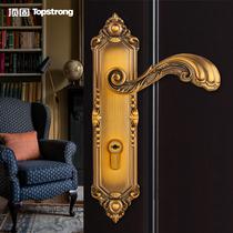 室内锁体50卫生间欧式轴承房欧式卧室木门门锁锁具实木门执手锁小