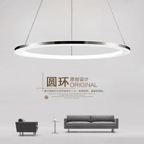 圆环形吊灯后现代简约LED客厅餐厅创意个性办公室工程定制灯具