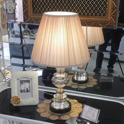 高档水晶台灯卧室床头婚房现代简约欧式温馨奢华装饰客厅台灯调光图片