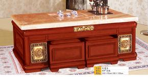 自动大理石功夫茶几中式泡茶桌宜家客厅上水多功能橡木茶台家具