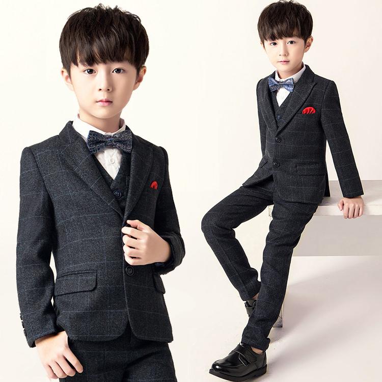 儿童西装套装男童花童礼服钢琴演出服中大童韩版小孩西服外套秋冬