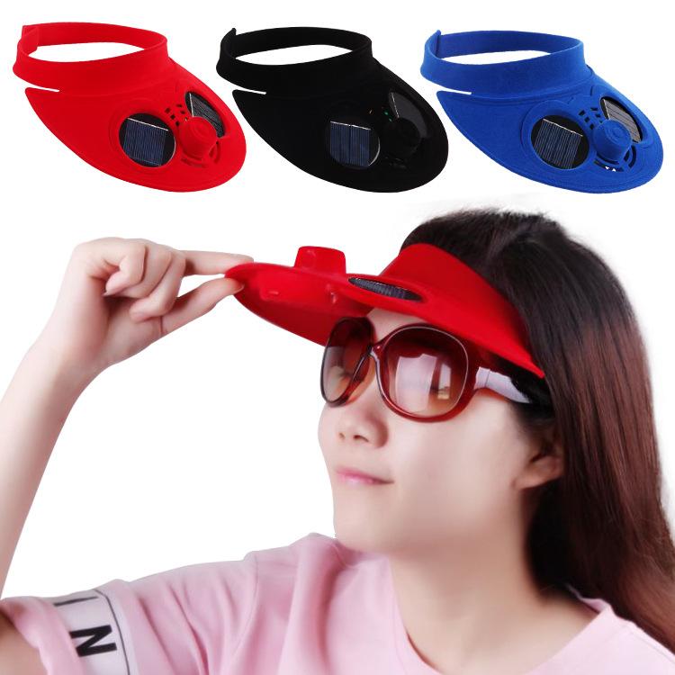 头顶谜你戴风扇戴带在头上的风扇风扇帽子 成人头戴式小电风扇充