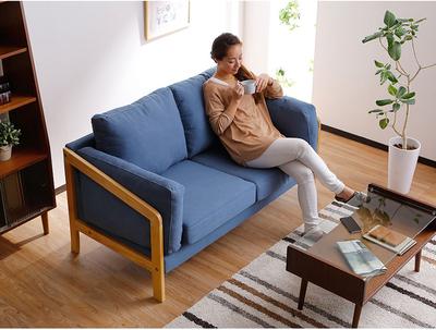 北欧沙发实木沙发三人布艺沙发韩式小清新沙发田园小户型拆洗品牌排行