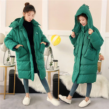 Godzilla down jacket women's winter jacket 2019 loose and thick warm long jacket