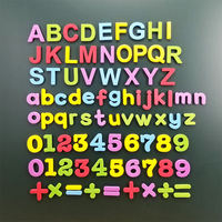 English alphabet magnetic paste capital letters magnetic stickers digital refrigerator stickers puzzle children English toys early education