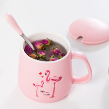 Creative ceramic cup office cup milk cup couple coffee cup mug with lid spoon custom breakfast cup