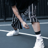 NICEID basketball shorts loose training basketball shorts hiphop street style striped casual shorts
