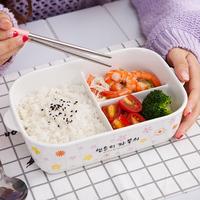 陶瓷分格碗饭盒微波炉