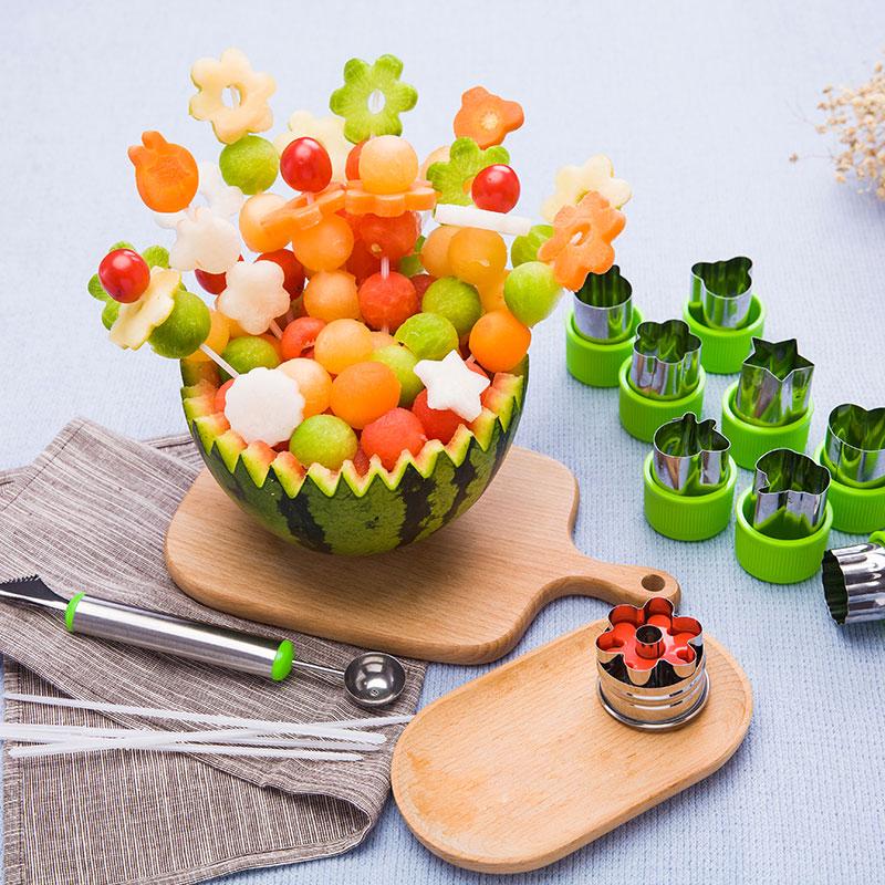不锈钢创意水果蔬菜切花器卡通花样面食面点造型工具蝴蝶面模具