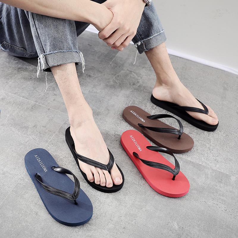 人字拖男士夏季防滑时尚凉拖鞋男韩版潮流学生平底外穿夹脚沙滩鞋
