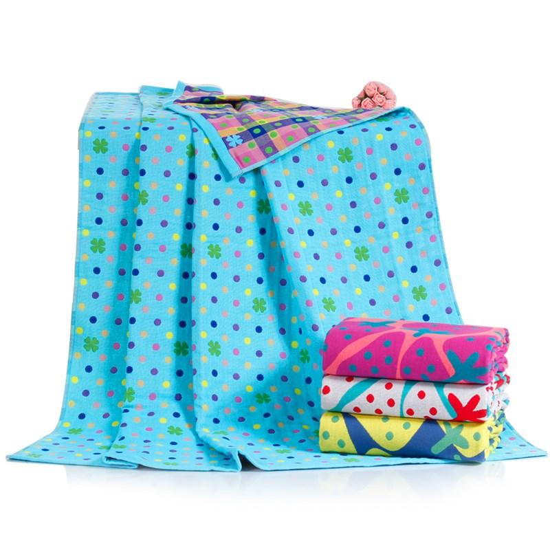 纯棉纱布童被方形浴巾成人  儿童毛巾被婴儿午睡毯空调被