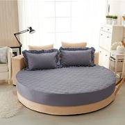 订做纯棉圆床床笠单件夹棉加厚圆形床单床垫防滑保护套床罩四件套