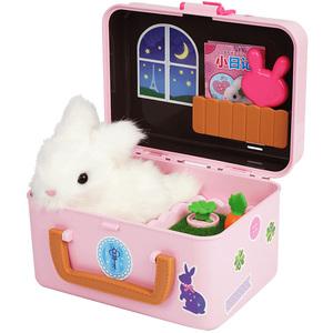 mimiworld蜜蜜兔玩具仿真小兔子宠物秘密密兔儿童玩具女孩过家家