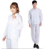 Anti-static clothing plus fertilizer XL dust-free clothing hooded piece dust-proof clothing 5XL 6XL split overalls blue