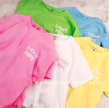 Baggage Children's Wear New Spring and Summer 2019 Boys and Girls Letter Comfortable Candy Short Sleeve T-shirt for Small and Medium-sized Children
