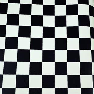 马赛克壁纸黑白小方块理发店墙纸艺术服装鞋子专柜办公室写字楼BT
