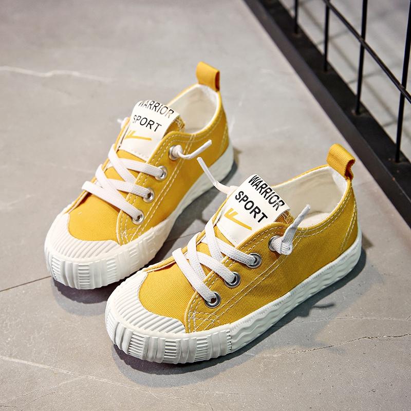 回力童鞋2019春秋兒童帆布鞋女童小白鞋男童鞋中大童系帶學生布鞋
