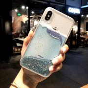 闪粉散热流沙苹果x手机壳水冷iphone7plus/6splus硅胶软 8X男女款