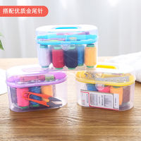 Treasure box sewing box small portable sewing kit sewing kit home hand sewing sewing manual multi-function storage